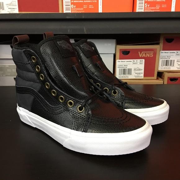 d7e4861455 Vans Sk8-Hi 46 MTE Pebble Leather Black NEW